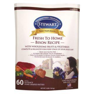 Stewart� Raw Naturals™ Fresh to Home™ Bison Recipe Dog Food Patties   Dog