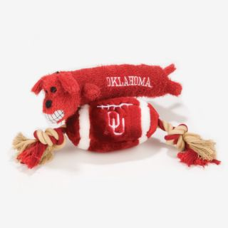 Pets First Oklahoma Sooners Plush Collegiate Dog Toys   Toys   NCAA