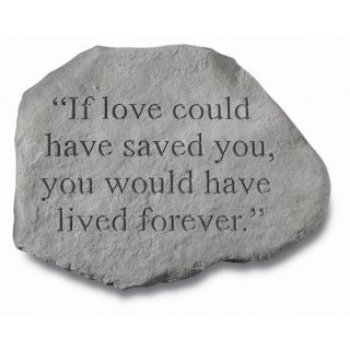If Love Could Have Saved YouPet Memorial Stone   Pet Memorial   Cat