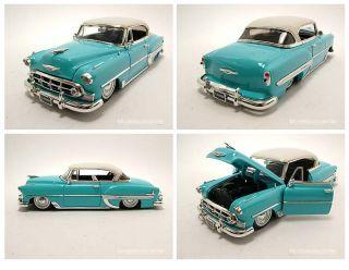 Chevrolet Bel Air 1953 blau/weiß, Modellauto 124, Jada Toys