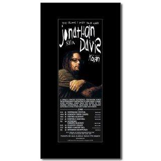 KORN Jonathan Davis   UK Tour 2008 380x202mm Matted Music Print/Mini