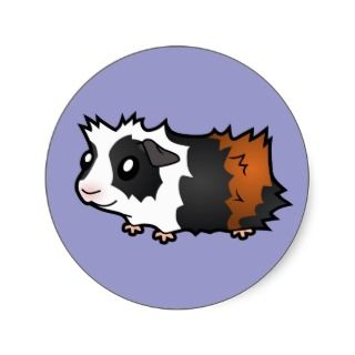 Cartoon Guinea Pig (tortoiseshell) stickers by SugarVsSpice
