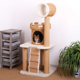 PetPals Eco Friendly Castle Cat Tower   24x24x56