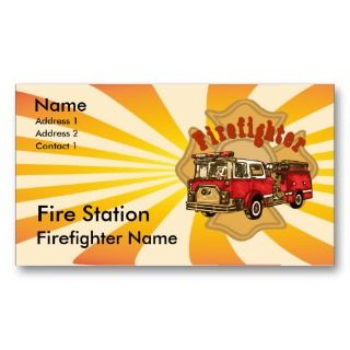 Canadian Firefighter Business Card Template