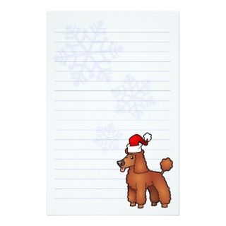 Christmas Poodle (red puppy cut) Stationery