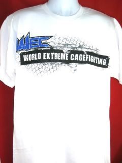 WEC World Extreme Cagefighting White Banner T shirt New