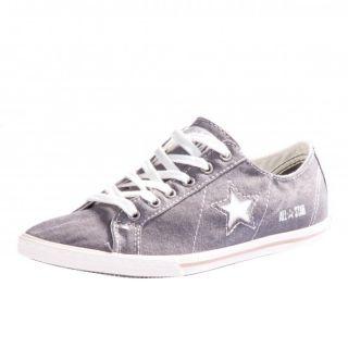 Converse One Star Low Pro Ox Schuhe Sneaker charcoal grey grau 129540C