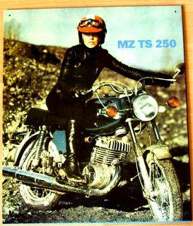 Blechschild MZ TS 250 Oldtimer bike CROSS Gelaendemaschine DDR