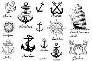 2012 spätestens neues Design neue Release Tattoo wasserdichte Anker