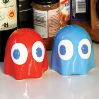 Pac Man Ghost Salz  und Pfefferstreuer   Geist Gespenst Salzstreuer