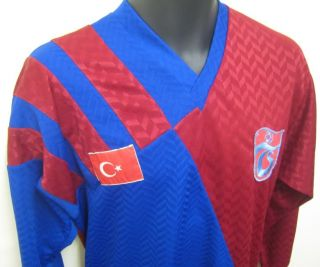 Vtg Player Issue Trabzonspor Football Shirt Trikot Turkish Jersey 70s