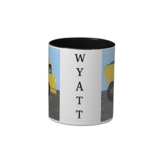Wyatt Dump Truck Personalized Name Mug