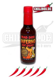 Mad Dog Inferno Reserve Hot Sauce   scharfe Chilisauce