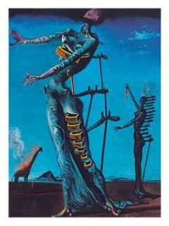 Salvador Dali Brennende Giraffe Poster Kunsdruck