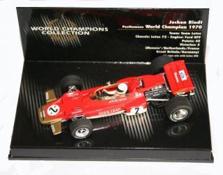Minichamps 143 Lotus 72 Jochen Rindt World Champion 1970   New