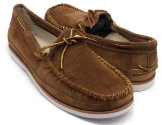 Schuhe Timberland Abington Boat Slipper Brown Boot Nr. 46