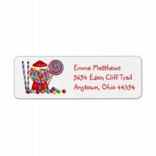 Gumball Machine Return Address Labels