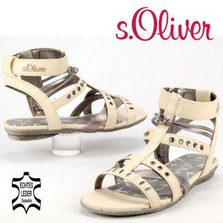 KSA271 s.OLIVER KIDS Mädchen Riemchen Sandale Decksohle Leder creme