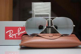 Rayban 3025 003/40 Aviator 62mm Silver Mirror Silber Sonnenbrille