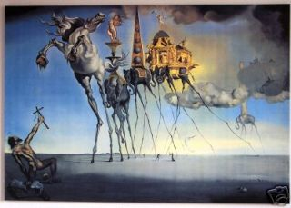 Große Salvador DALI Gemälde BILDER LEINWAND KUNST XXL