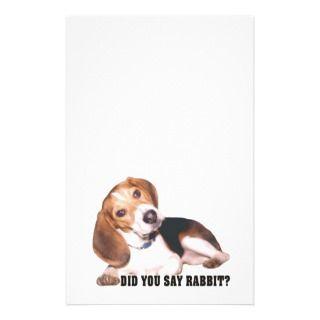 Did you Say Rabbit? Beagle Stationery