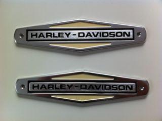 Harley Davidson Tankembleme Tankschilder Tank Embleme mit Adapter Kit