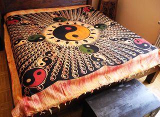 Keltic Decke, Wandbehang, Überwurf, Ying Yang, Indien, 65