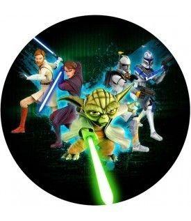 Tortenaufleger Clone Wars Yoda Star Wars Party Geburtstag Neuheit
