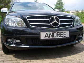 Mercedes Benz W204 S204 C Grill Kühlergrill AMG C63 look Schwarz