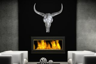EL TORO silber Longhorn Skull 65 cm Geweih Stier Hörner Bulle