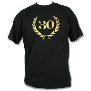 Jubiläum / Geburtstag 30 Gold Fun T Shirt, schwarz