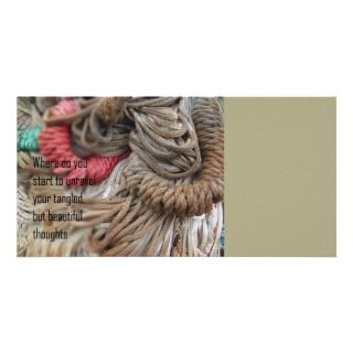 Poetry   Tangled Thoughts Personalized Photo Card