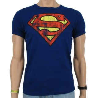 Logoshirt   Superman Logo Vintage T Shirt Slim Fit, roy