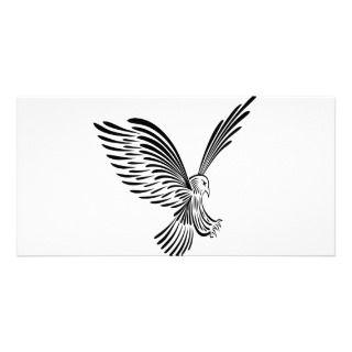 Tribal Eagle Art #030 Customized Photo Card