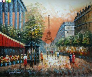 Modern Art Paris Eifelturm c80702 50x60cm Ölgemälde Gemälde Ölbild