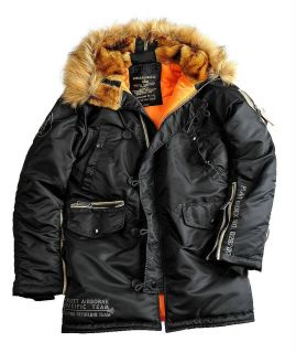 Alpha Industries A.R.T. Parka N3B oliv schwarz Felljacke Winter Jacke