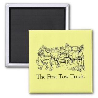 The First Tow Truck Magnet