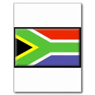 South Africa Flag Post Card