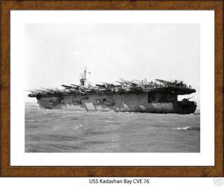 USS Kadashan Bay CVE 76 Naval Ship Photo Print, USN Navy