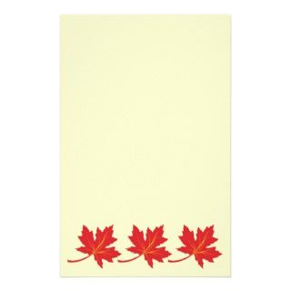 Maple leaves in fall colors custom stationery