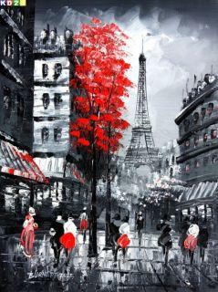 Modern Art Paris Eiffelturm a81012 30x40cm Ölgemälde Ölbild