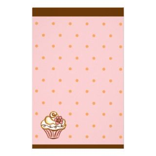Pink Brown Cupcake Bakery Stationery