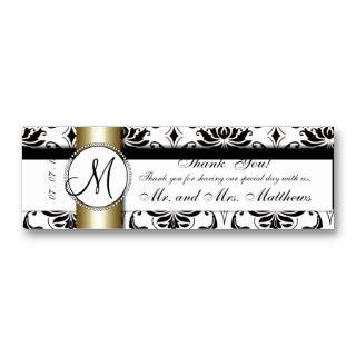 Monogram Wedding Favor Hang Tags Business Card