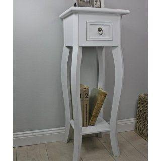 Telefontisch Konsole Tisch weiß antik Landhaus Beistelltisch barock