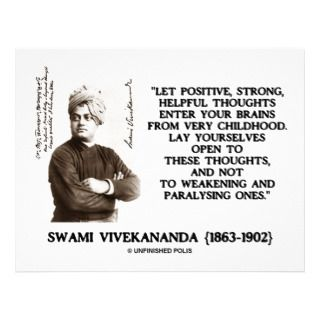 Swami Vivekananda Positive Strong Helpful Thoughts Personalized