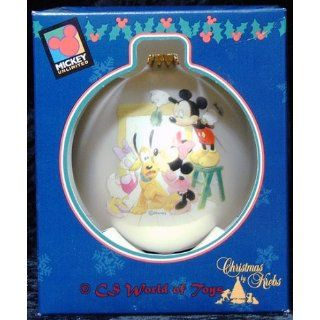 Disney 1998   Mickey Unlimited   Christmas Glass Ornament