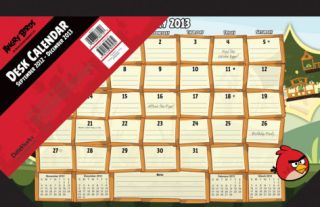 Angry Birds   2013 Desk Pad Calendar Calendars