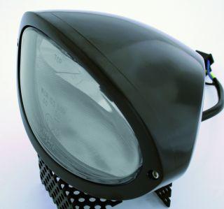 Scheinwerfer IOWA, schwarz, Klarglas, E gepr.