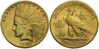 B581 USA 10 Dollar 1910 D GOLD