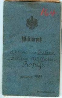WWIMilitärpassOld.Inf.Regt.Nr.91
